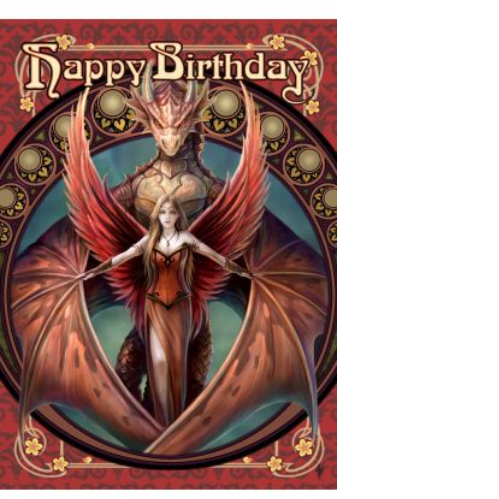Copperwing Birthday Card by Anne Stokes