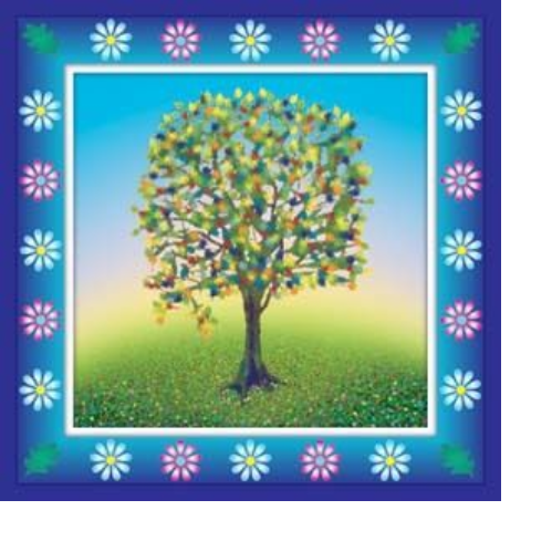 Spring Tree Blank Greeting Card
