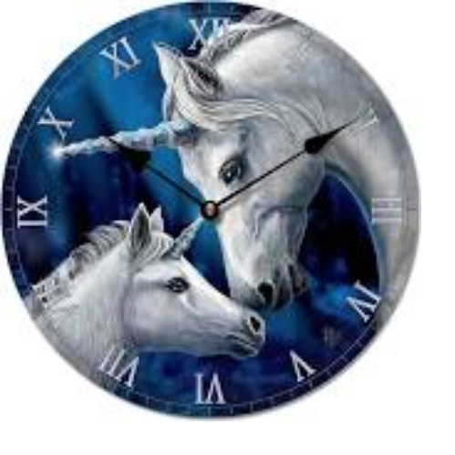 sacred love unicorn clock by Lisa Parker