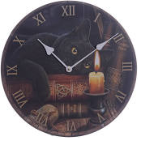 Withcing hour  Gat Picture Clock by Lisa Parker