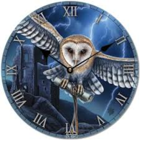 Heart Of The Storm Owl Clock by Lisa Parker - COPY
