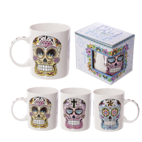 Lauren Billingham Day of the Dead New Bone China Mug