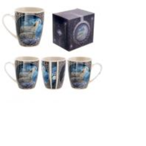 Lisa Parker New Design Howling Wolf Bone China Mug - COPY