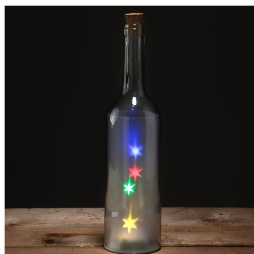 Decorative Bottle Jar with Multicoloured star LED lights