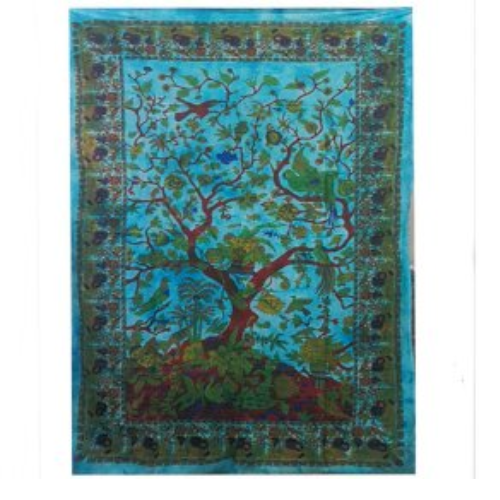 Tie Dye Tree of Life wall hanging